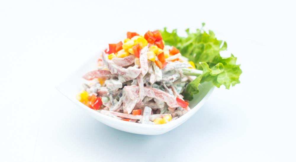 Салат со свежим огурцом пошаговый рецепт 70